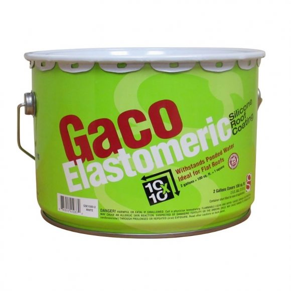 GACO Elastomeric Silicone Roof Coating 2-Gal RV Camper Flat Roof Coatings Tampa Florida
