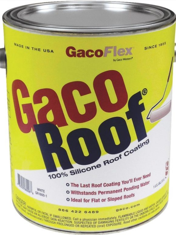 GacoRoof Silicone Roof Coating 1-gallon GR1600-1 New Dealer Tampa Florida
