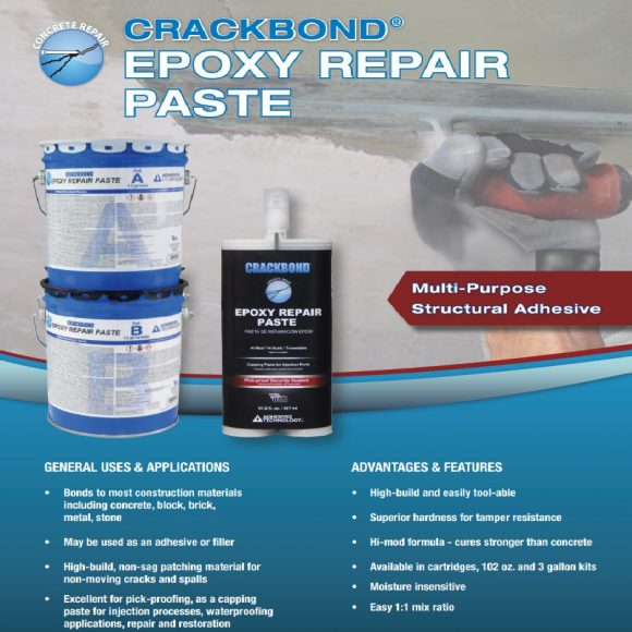 ATC Epoxy CRACKBOND ERP Epoxy Repair Paste concrete BUG-ERP 102-oz Kit 2018 Flyer