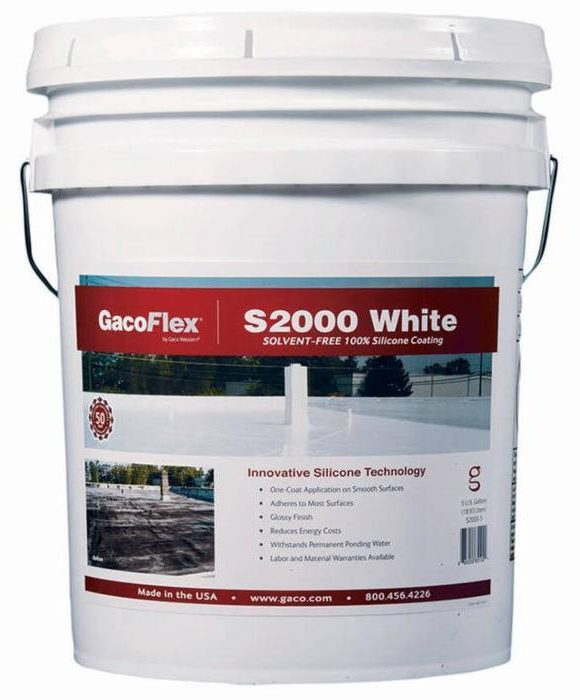 GacoFlex S20 Commercial Silicone Roof Coating S2000 WHITE Tampa Florida