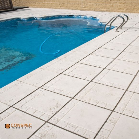 white portland cement Concrete Swimming Pool Deck