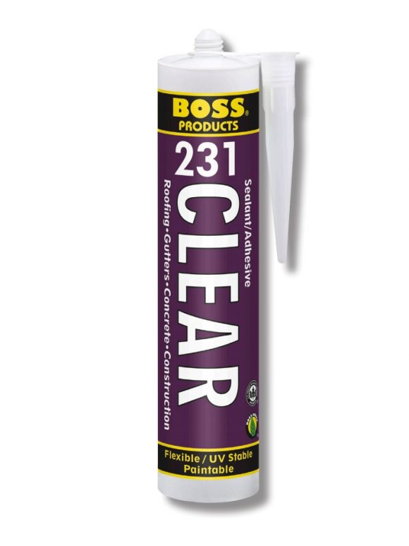 BOSS 231 CLEAR Adhesive Sealant Window Siding Roofing Sealant