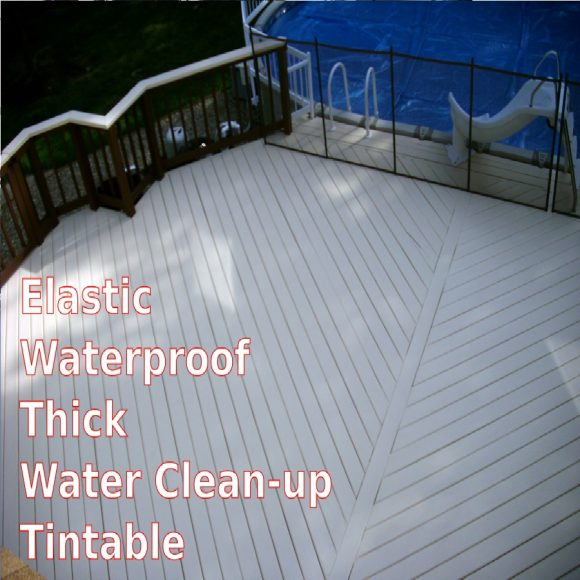 AMES Safe-T-Deck Deck Coating Safety Wood Deck Elastomeric Paint application pool deck