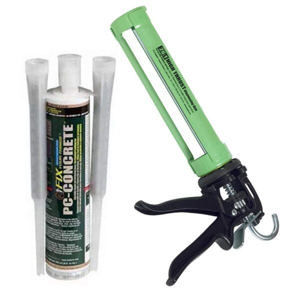 PC Concrete Anchoring Epoxy and Concrete Repair 9-oz kit with applicator tool